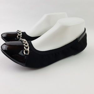 Black DEXFLEX Comfort Slip On Ballet Flats Shoes